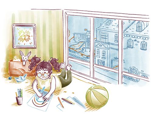 Francescas-Fenster_Coverillustration_Buchillustration_Kinderbuchillustration_Meau-Design_Melanie-Austermann_Grafikesign_Illustration