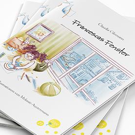 """Vorschaubild für Portfoliobeitrag """"Francescas Fenster"""", Kinderbuchillustration"""
