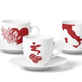 Vorschaubild für Portfoliobeitrag Kaffeepapst, Illustration für Tassenmotive