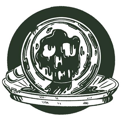 Horrorillustration_Buchillustration_Kaffeesatz-Totenkopf_Meau-Design_Melanie-Austermann_Illustration_Grafikdesign