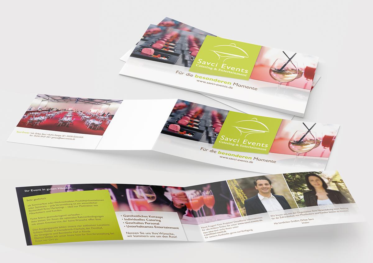 Werbemittel und Corporate Design, Flyer, Faltblatt