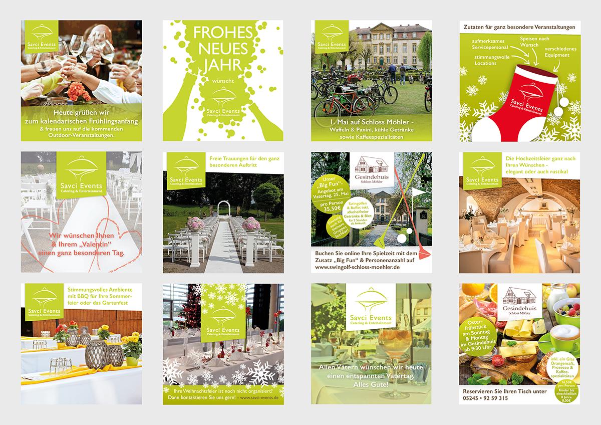 Werbemittel und Corporate Design, Social Media Content, Web-Grafiken