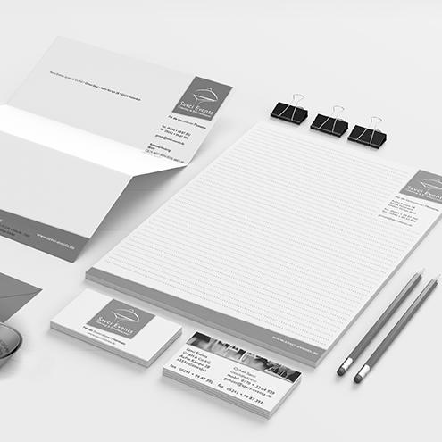 Werbemittel und Corporate Design, Geschäftsaussattung, Geschäftspapier, Visitenkarten