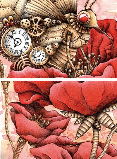 Melanie-Austermann_MEAU-ESIGN_IllustratorMechanical-Butterfly-Detailansicht