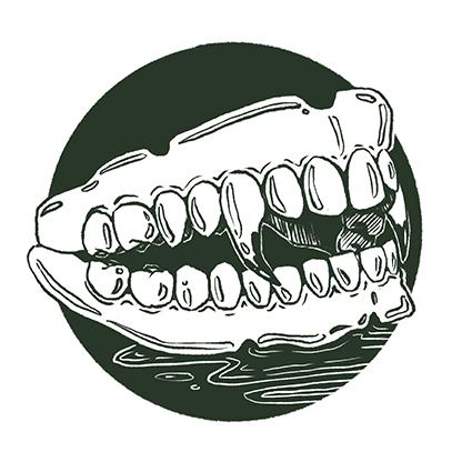 Melanie-Austermann_Meau-Design_Illustration_Grafikdesign_Horrorillustration_Vampir-Zahnprothese