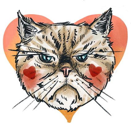 Melanie-Austermann_Meau-Design_Illustration_Grafikdesign_Katzenporträts_Cartoon-Katzen_Perserkatze