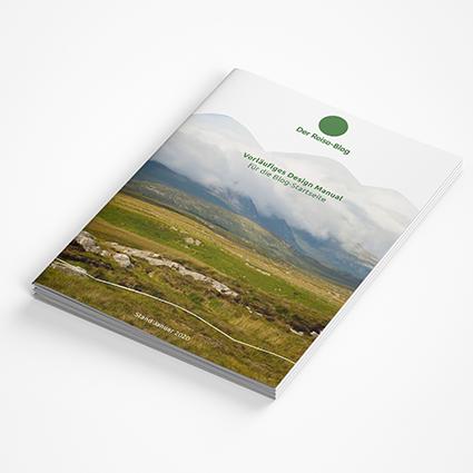 Vorschaubild für Portfoliobeitrag Reiseblog, Corporate Design Manual