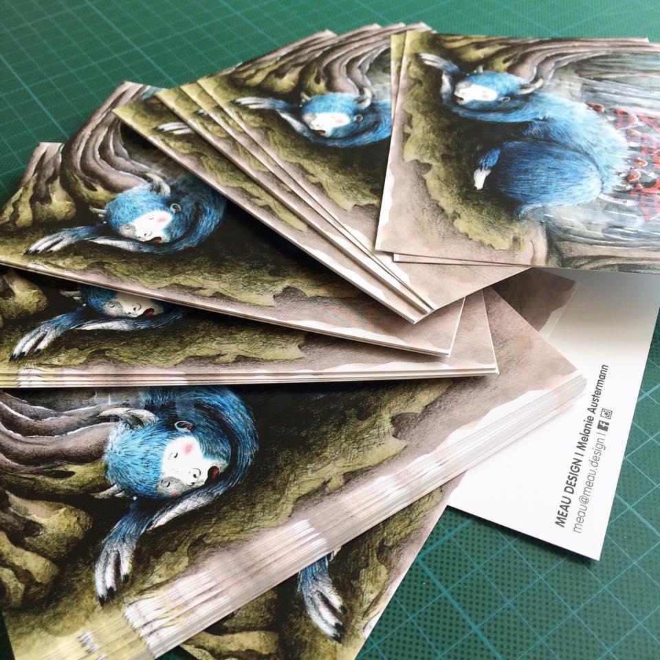 sleepy-Monster-Postkarten-Meau-Design