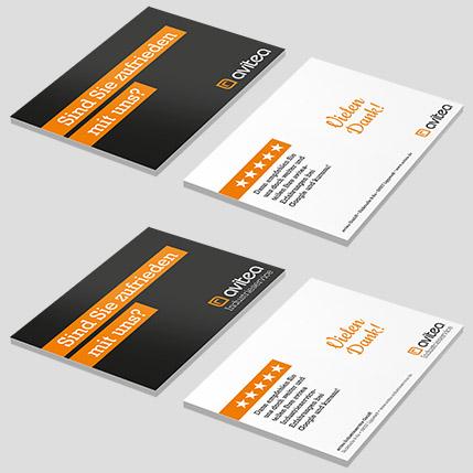 Printmedien, Empfehlungsmarketing, Postkartendesign, Kundenbindung, Mitarbeiterbindung, Corporate Design